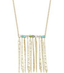 alexis bittar women's 10k goldplated & multistone fringe necklace