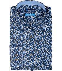bos bright blue ward shirt casual hbd 20307wa48bo/500 multicolour