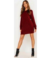 soft knit sweater dress, wine