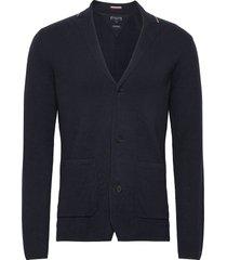 tipped single breasted blazer stickad tröja cardigan tommy hilfiger tailored