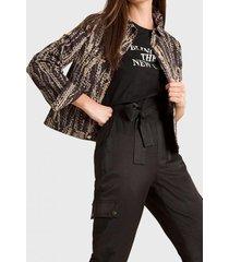 chaqueta estampado batik negro liola