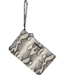 kelly wynne risky biz convertible leather wristlet - beige