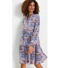 jurk met animalprint van viscose