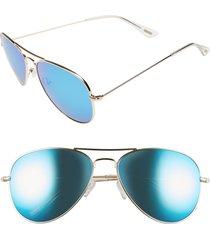women's diff cruz 57mm metal aviator sunglasses -
