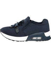 skor liva loop marinblå