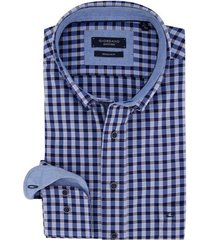 giordano overhemd regular fit blauw geruit