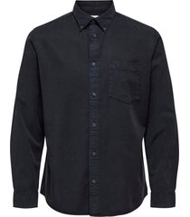 skjorta slhregklay shirt ls w