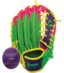 "franklin sports 9.5"" teeball meshtek glove & ball set -left handed"