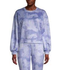 t tahari women's tie-dye sweatshirt - blue - size s