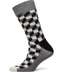 filled optic sock underwear socks regular socks svart happy socks
