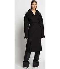 proenza schouler cotton wrapped shirt dress 00200 black 8