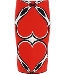 alexander mcqueen love heart pencil skirt