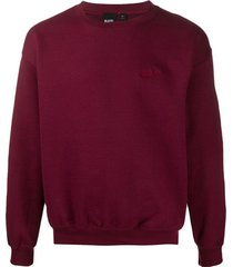 blood brother suéter waiver com mangas longas - vermelho