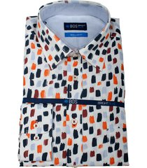 bos bright blue ward shirt casual hbd 21107wa13/500 multicolour