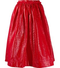 marni full pleated skirt - 00r60 raspberry