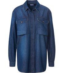 lange jeansblouse 100% katoen lange mouwen van day.like denim