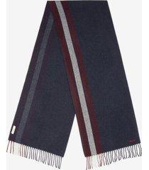 bally stripe scarf blue 1