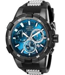 reloj invicta 25861 gunmetal, negro silicona, acero inoxidable