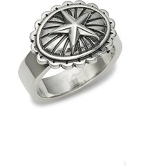 king baby studio men's sterling silver star concho ring - size 10