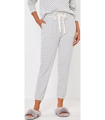 loft dotted cozy pajama joggers