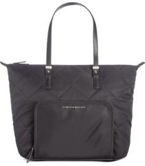 tommy hilfiger amelia quilted nylon zip tote