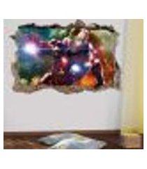 adesivo buraco na parede homem de ferro - p 47x73cm