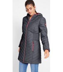 gewatteerde jas met draagtas