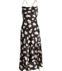 women's astr the label cowl neck midi dress, size large - black