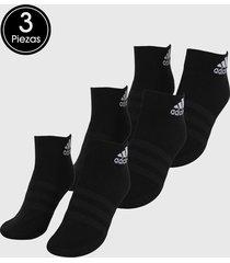 medias x3 negro-blanco adidas performance