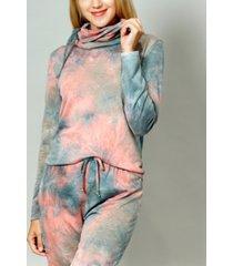 women's tie dye built-in gaiter top