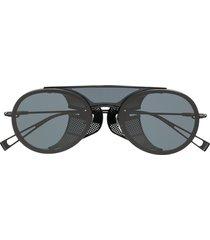 max mara slim aviator sunglasses - black