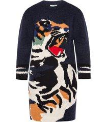 tiger motif dress