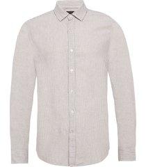 untucked slim-fit linen-cotton shirt skjorta casual beige banana republic