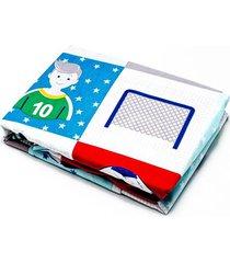 jogo de cama infantil andreza basic microfibra menino 2 peças futebol