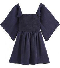 blusa elástico azul nicopoly
