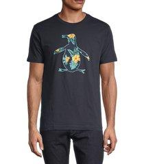 original penguin men's graphic floral t-shirt - dark sapphire - size s