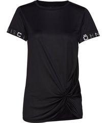 knot tee t-shirts & tops short-sleeved svart röhnisch