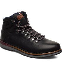outdoor hiking lace boot snörade stövlar svart tommy hilfiger