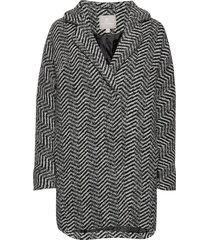 coat outerwear heavy wollen jas lange jas multi/patroon brandtex