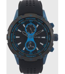reloj azul-plateado virox