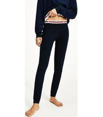tommy hilfiger women's organic cotton logo tape legging desert sky - xs
