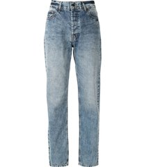 eva vintage faded style jeans - blue