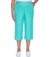 alfred dunner petite miami beach pull-on capri pants