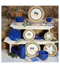conjunto de 6 pratos rasos 24cm donna giardino