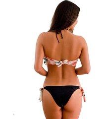 panty tipo bikini bahamasjessie de la rosa lingerie para mujer - negro