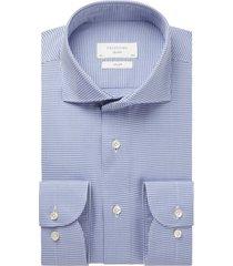 blauw geruit overhemd profuomo slim fit