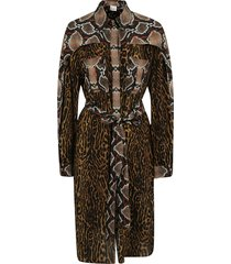 burberry snake and leopard print long dress