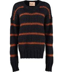 plan c openwork-knit pullover