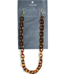 mens brown tortoiseshell wallet chain*