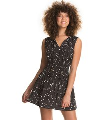 vestido negro-blanco maaji swimwear sparkling superstar